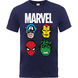 Marvel Comics Kids Boy's Fit Tee: Main Heads