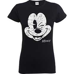 Disney Ladies's Tee: Mickey Mouse Beaten Face