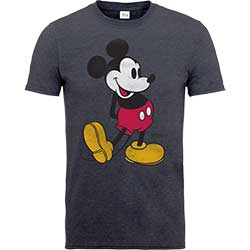 Disney Unisex Tee: Mickey Mouse Classic Kick Colour