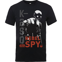 Star Wars Kid's Tee: Rogue One K2SO Rebel Spy (Boy's Fit)