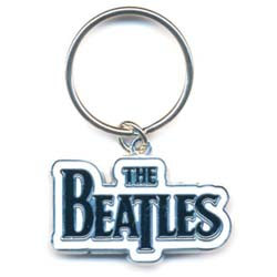 The Beatles Standard Key-Chain: Drop T Logo (Black)