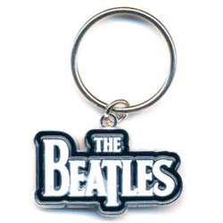 The Beatles Standard Keychain: Drop T Logo (White)