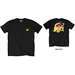 Blondie Unisex Tee: Punk Logo (Back Print/Retail Pack)