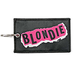 Blondie Keychain: Punk Logo (Double Sided Patch)