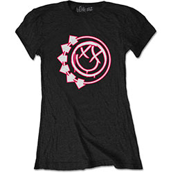 Blink-182 Ladies Tee: Six Arrow Smiley