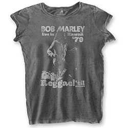 Bob Marley Ladies Tee: Hawaii (Burn Out)