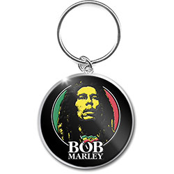 Bob Marley Keychain: Logo Face (Photo-print)