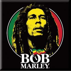 Bob Marley Fridge Magnet: Logo Face