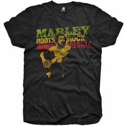 Bob Marley Kid's Tee: Roots, Rock, Reggae (Youth's Fit)