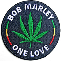 Bob Marley Standard Patch: Leaf