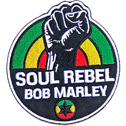 Bob Marley Standard Patch: Soul Rebel