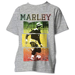 Bob Marley Unisex Tee: Football Text