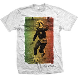 Bob Marley Men's Tee: Rasta Football