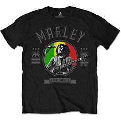 Bob Marley Unisex Tee: Rebel Music Seal