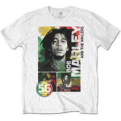 Bob Marley Unisex Tee: 56 Hope Road Rasta (Retail Pack)