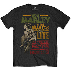 Bob Marley Men's Tee: Rastaman Vibration Tour 1976