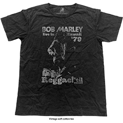 Bob Marley Unisex Fashion Tee: Hawaii Vintage (Vintage Finish)