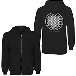 Bring Me The Horizon Unisex Zipped Hoodie: Flower of Life (Back Print)