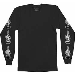 Bring Me The Horizon Men's Long Sleeved Tee: Devils Hand with Arm Printing, Back Printing