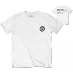Bring Me The Horizon Men's Tee: Distorted with Back Printing