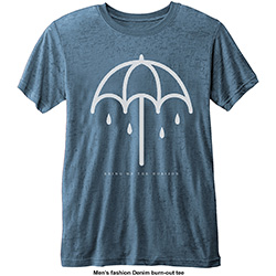 Bring Me The Horizon Men's Fashion Tee: Umbrella with Burn Out Finishing