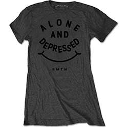 Bring Me The Horizon Ladies Tee: Alone & Depressed