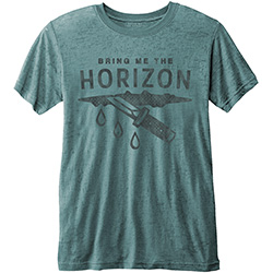 Bring Me The Horizon Men's Fashion Tee: Wound with Burn Out Finishing