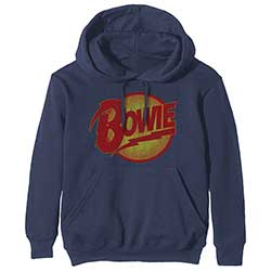 David Bowie Unisex Pullover Hoodie: Vintage Diamond Dogs Logo