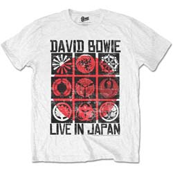 David Bowie Unisex Tee: Live in Japan