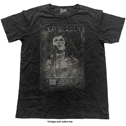 David Bowie Unisex Fashion Tee: Live (Vintage Finish)