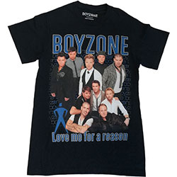Boyzone Unisex Tee: Love Me For A Reason Homage
