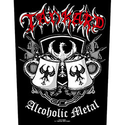 Tankard Back Patch: Alcoholic Metal