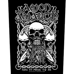 Amon Amarth Back Patch: Bearded Skull
