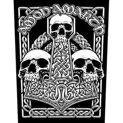 Amon Amarth Back Patch: Three Skulls