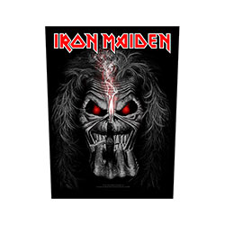 Iron Maiden Back Patch: Eddie Candle Finger