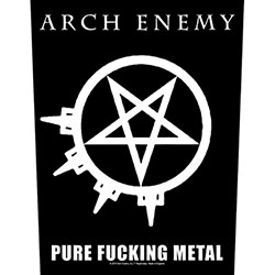 Arch Enemy Back Patch: Pure Fucking Metal