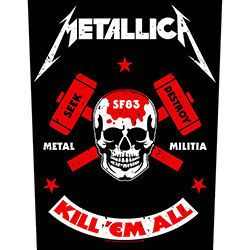 Metallica Back Patch: Metal Militia