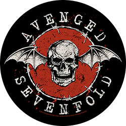 Avenged Sevenfold Back Patch: Distressed Skull