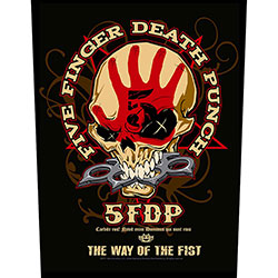 Five Finger Death Punch Back Patch: Way Of The Fist
