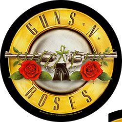 Guns N' Roses Back Patch: Bullet Logo