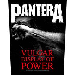 Pantera Back Patch: Vulgar Display Of Power
