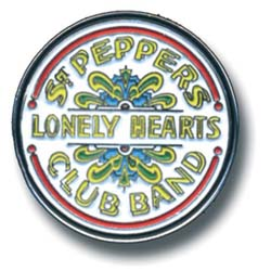 The Beatles Pin Badge: Sgt Pepper Drum