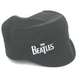 The Beatles Men's Military Style Hat: Drop T Logo
