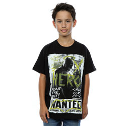 DC Comics Kids Boy's Fit Tee: Batman v Superman Wanted Poster (7 - 8 Years)