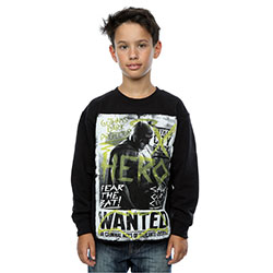 DC Comics Kids Boy's Fit Sweatshirt: Batman v Superman Wanted