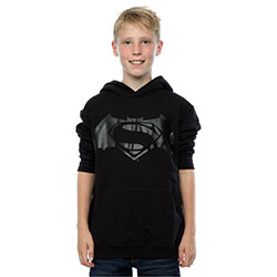 DC Comics Kids Boy's Fit Hoodie: Batman v Superman Logo Print (7 - 8 Years)