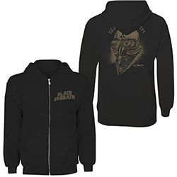 Black Sabbath Ladies Zipped Hoodie: Tour 1978 (Back Print)