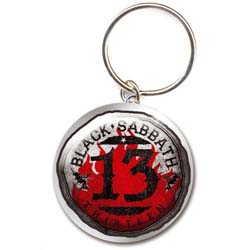 Black Sabbath Keychain: 13 Flame Circle (Photo-print)