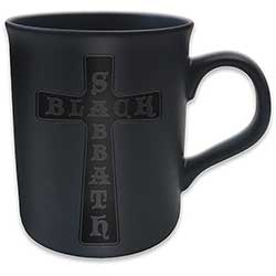 Black Sabbath Boxed Matt Mug: Cross (Black on Black Matt)