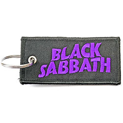Black Sabbath Keychain: Wavy Logo (Double Sided Patch)